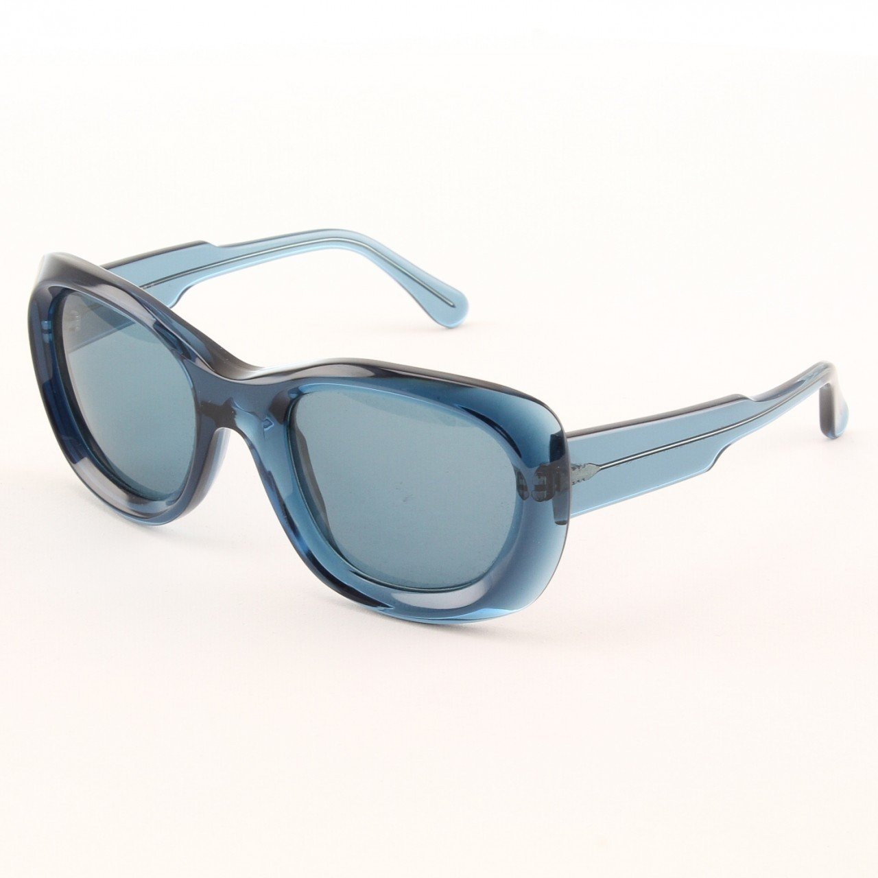 Marni MA178S Sunglasses Col. 07 Translucent Navy Blue with Gray Gradient Lenses