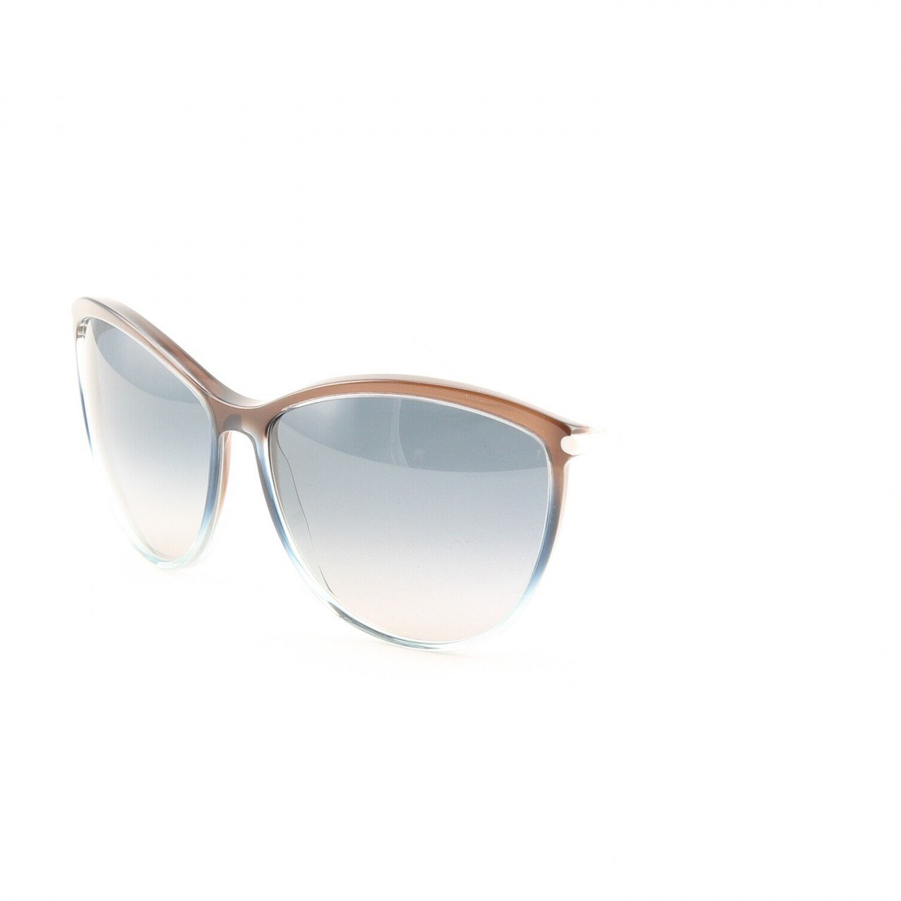 Marni MA183S Sunglasses Col. 10 Chocolate Brown Light Teal and White with Brown Gradient Lenses