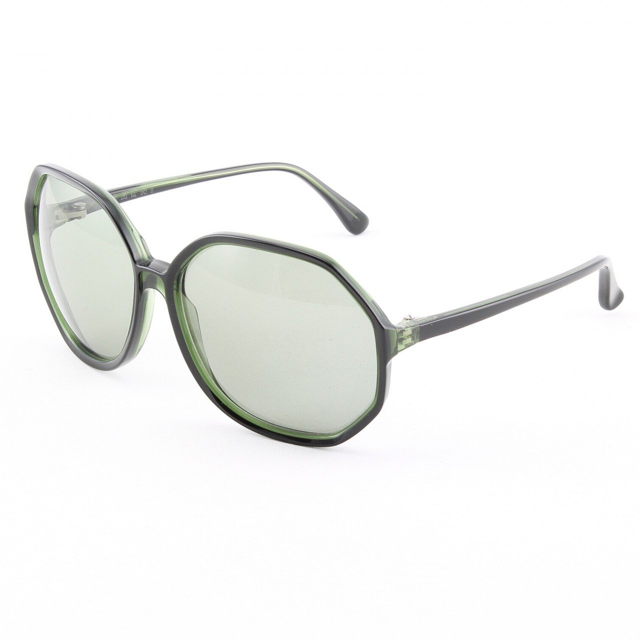 Marni MA181S Sunglasses Col. 01 Dark Green w/ Light Green Accents with Gray Gradient Lenses