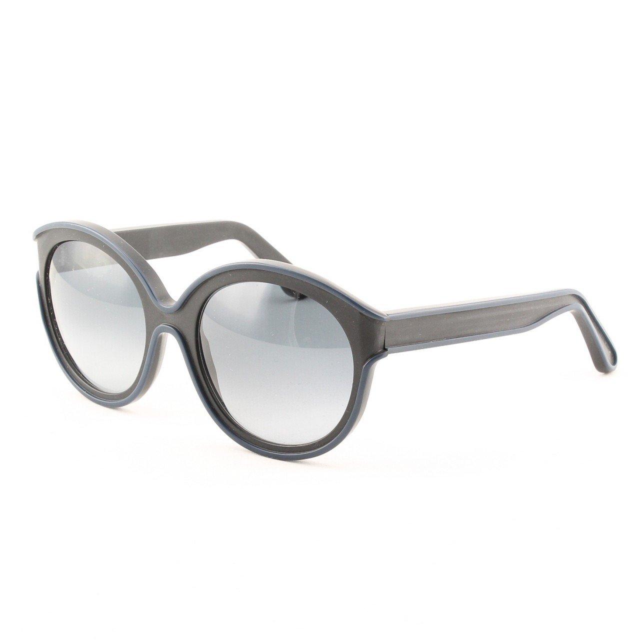 Marni MA195 Sunglasses Col. 04 Opaque Black w/ Navy Trim with Gray Gradient Lenses