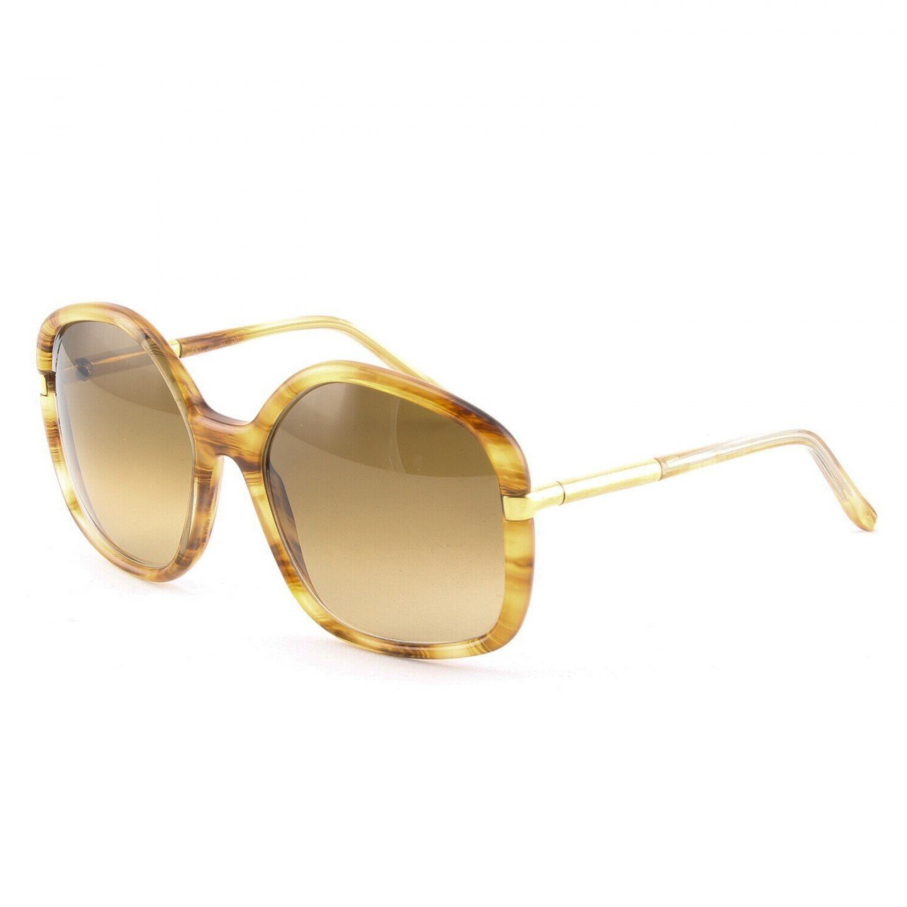 Marni MA211 Sunglasses Col. 01 Translucent Tortoise Gold Accent with Brown Gradient Lenses