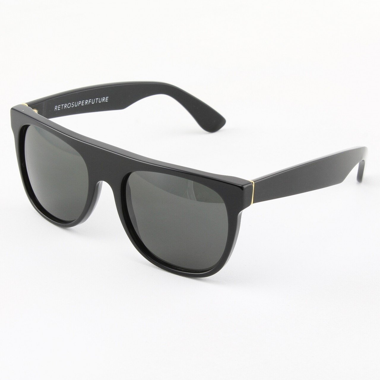 Super Sunglasses Flat Top Black 036 Super Flat Top 036 3t