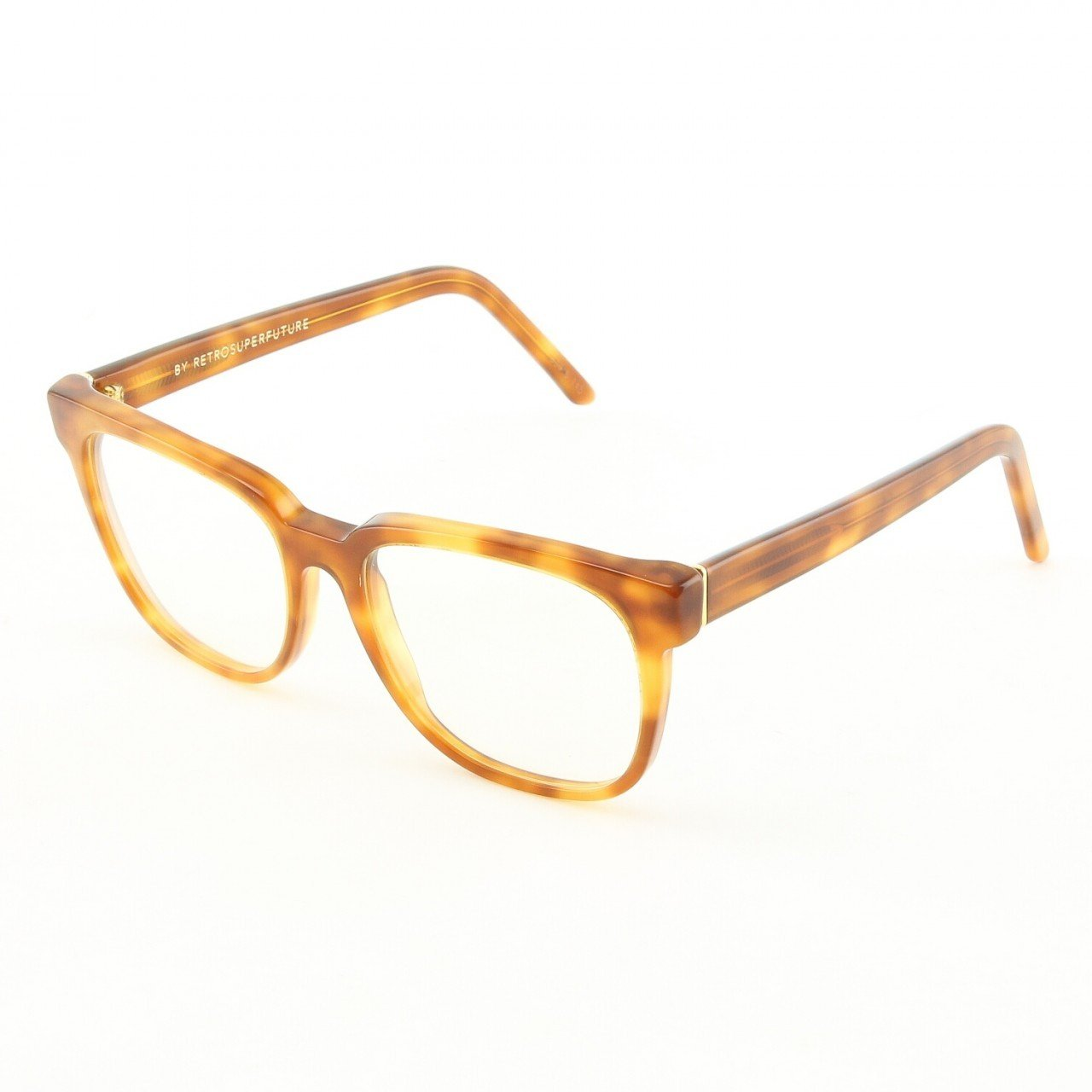 Super People 626 Eyeglasses Light Havana with Clear Zeiss Lenses by RETROSUPERFUTURE