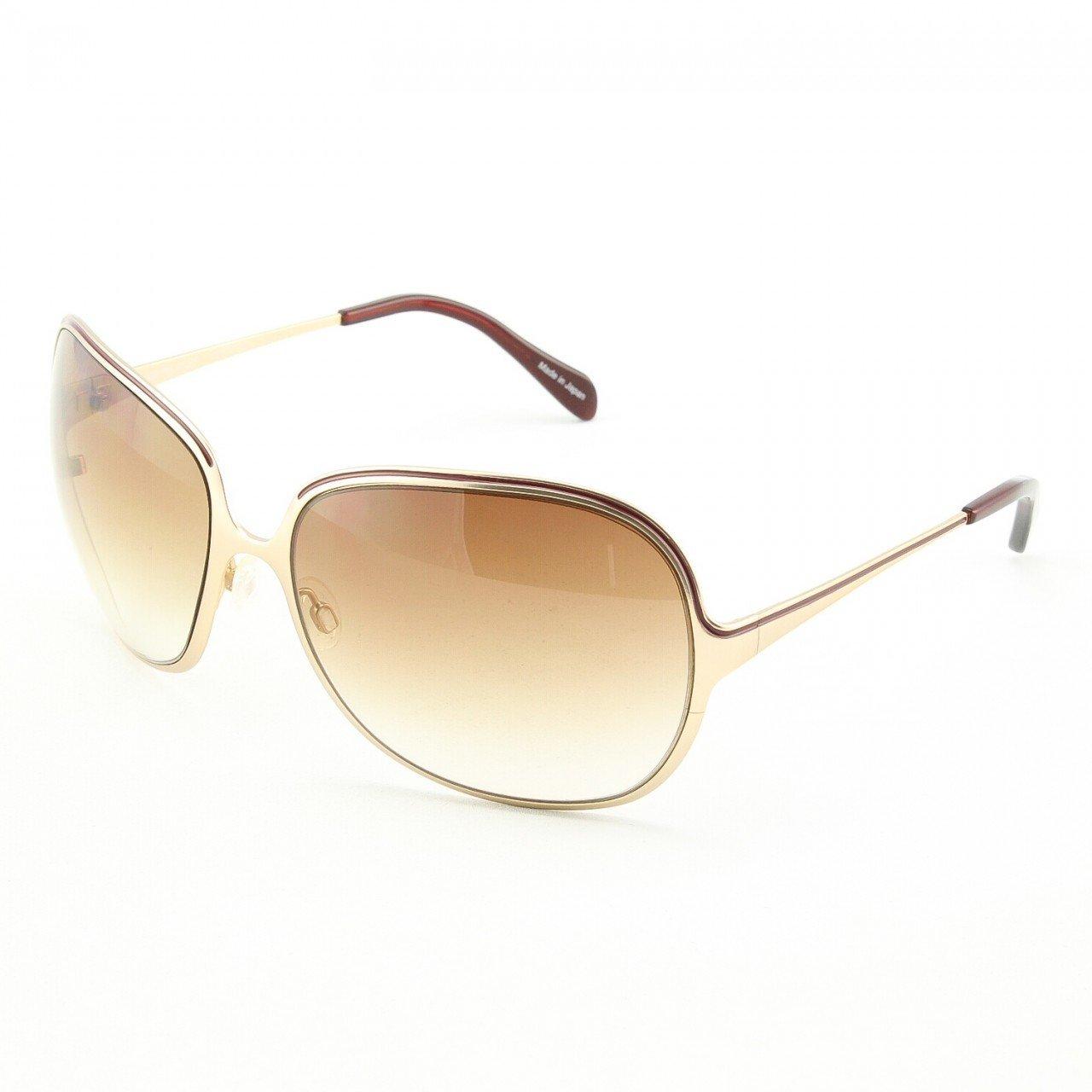 Oliver Peoples Vianca Sunglasses BG/COR-AMB Burgandy and Gold