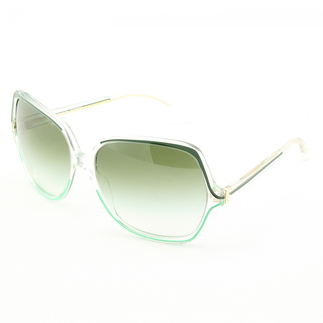 Oliver Peoples Nicola 5109S Sunglasses Col. 1057/8E Crystal Willow with Green Gradient Lenses
