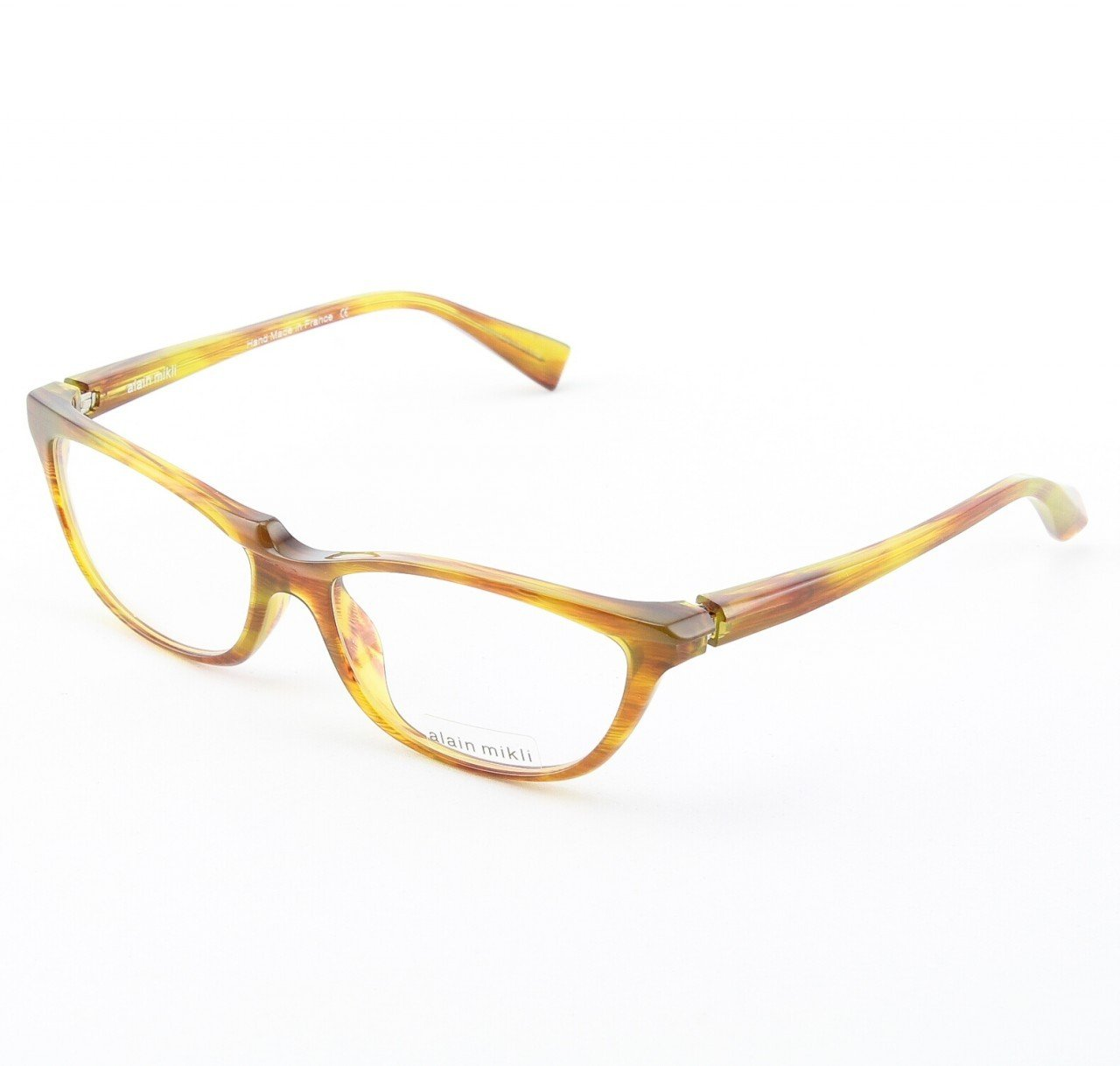 Alain Mikli Eyeglasses AL0882 Col. 1 Mottled Green and Brown