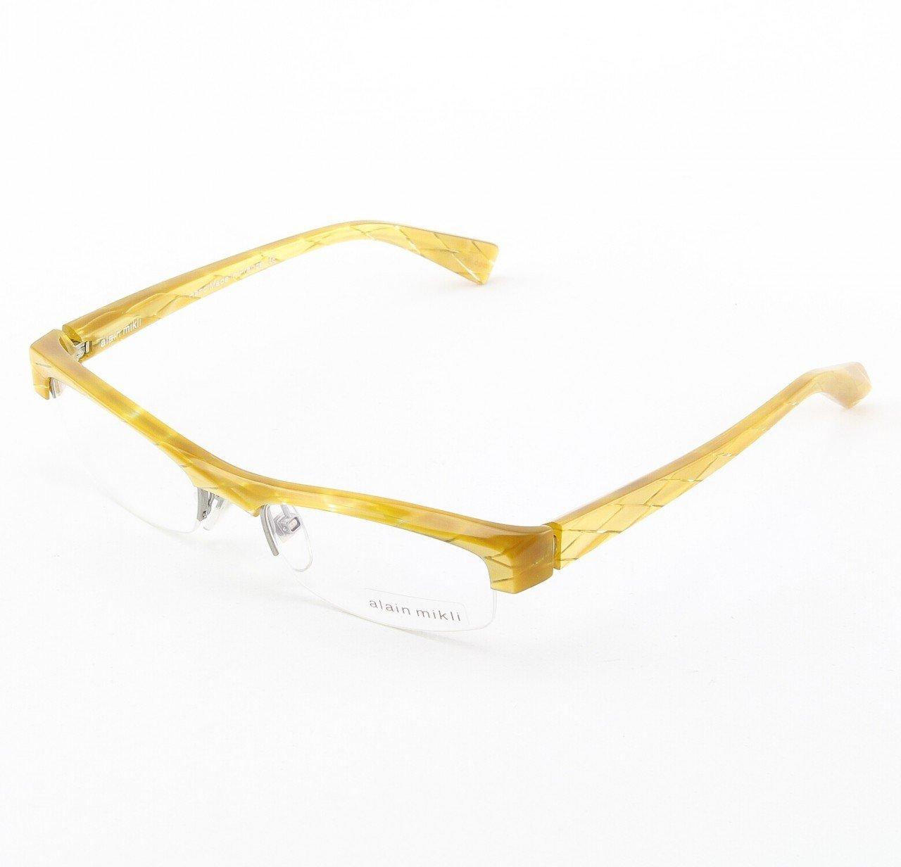 Alain Mikli Eyeglasses AL0831 Col. 14 Marbled Yellow Gold Diamond