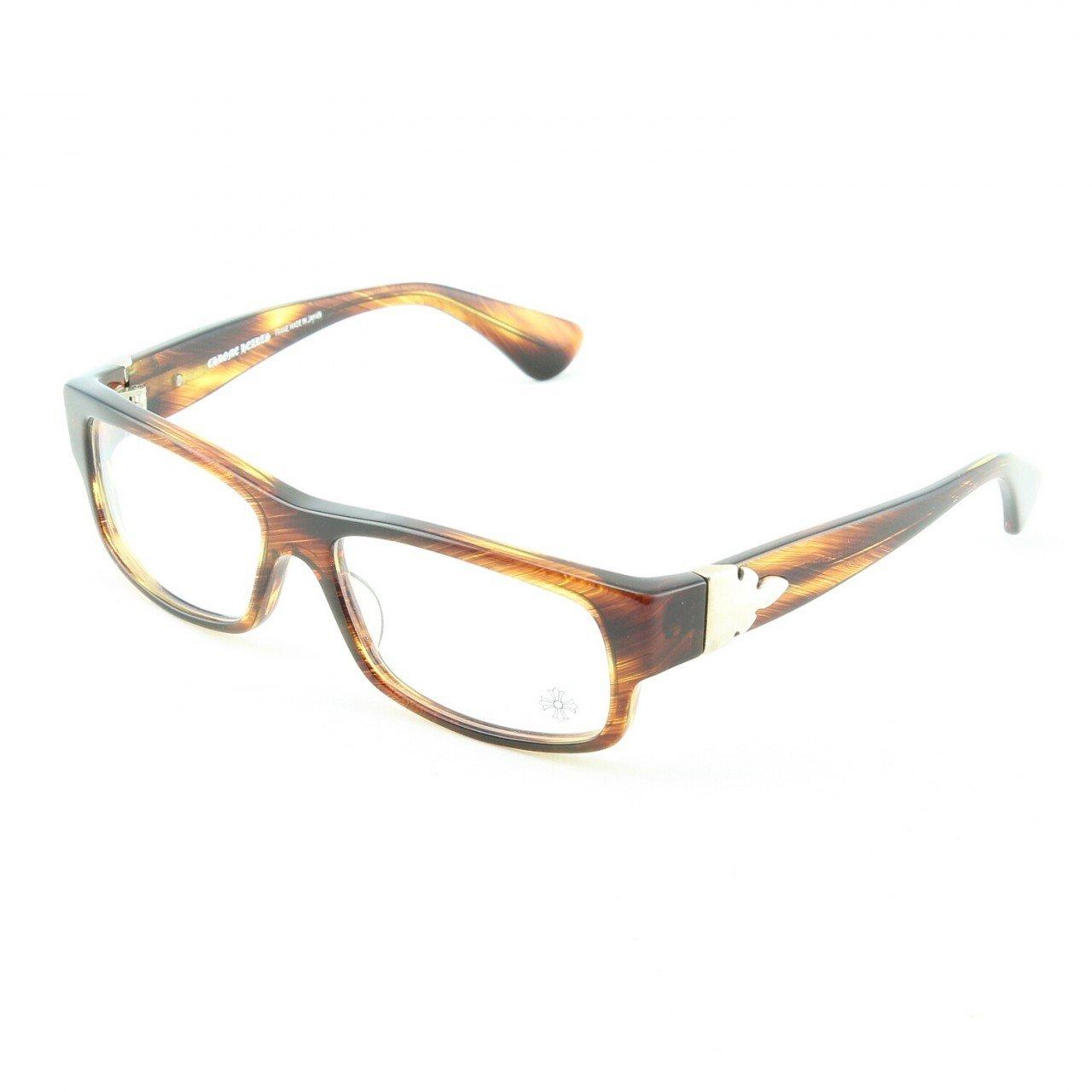 Chrome Hearts Dismembered Flerknee Eyeglasses Oak Stripe