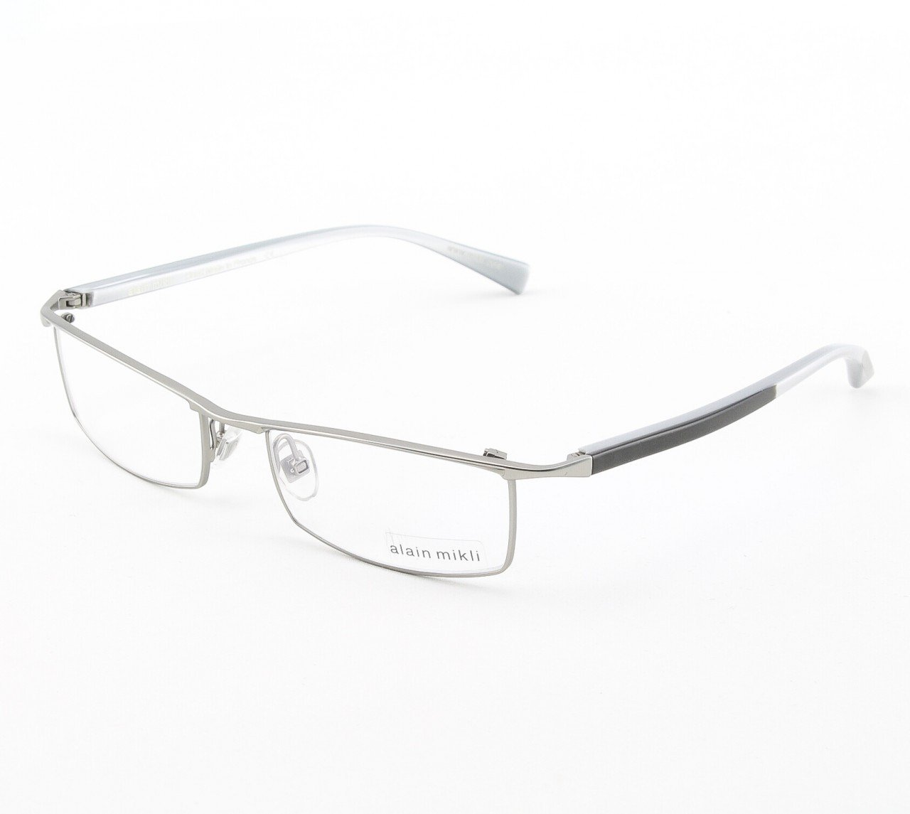 Alain Mikli Eyeglasses AL0770 Col. 12 Matte Silver with Black and Silver Temples