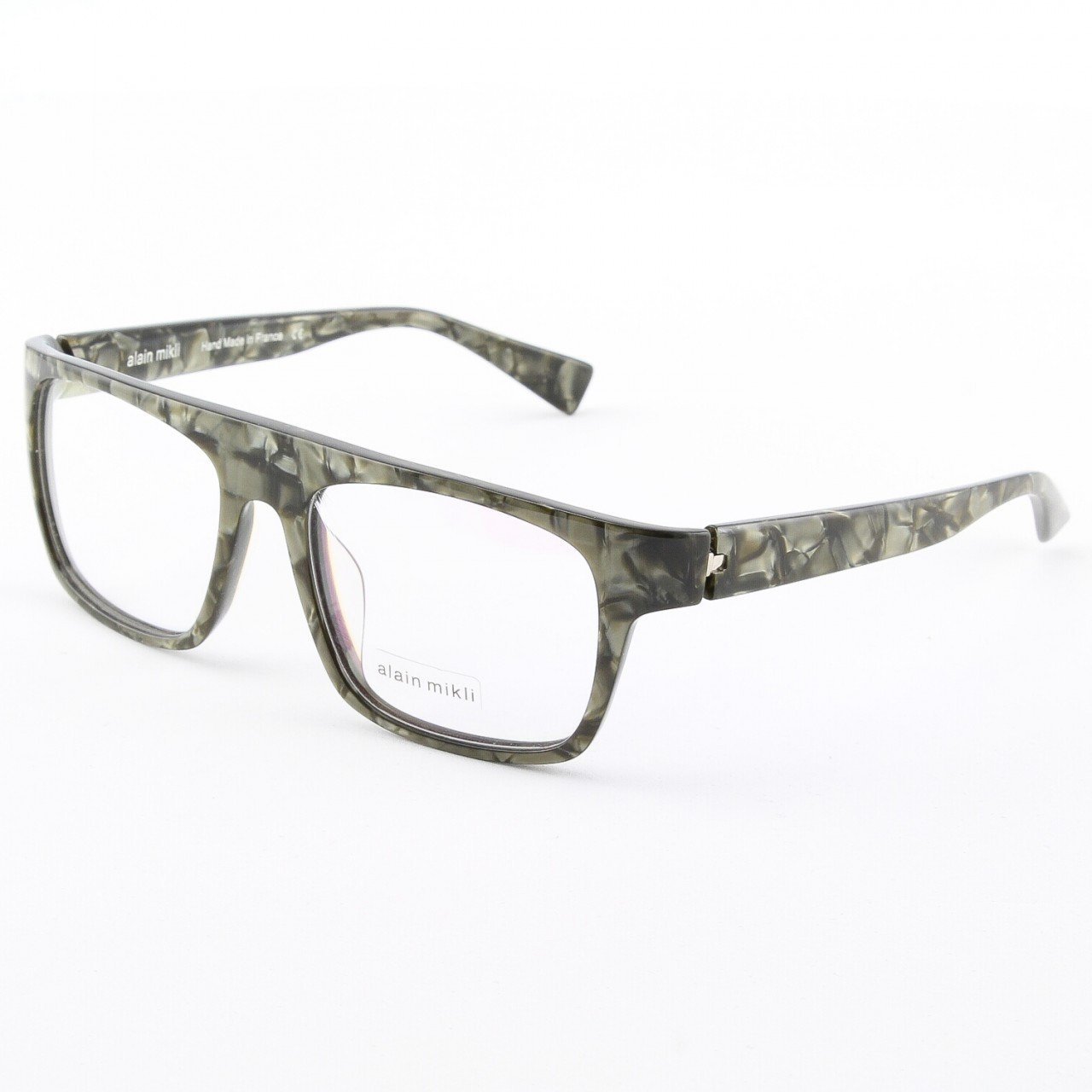 Alain Mikli Eyeglasses AL0756 Col. 11 Pearlized Green and Gold