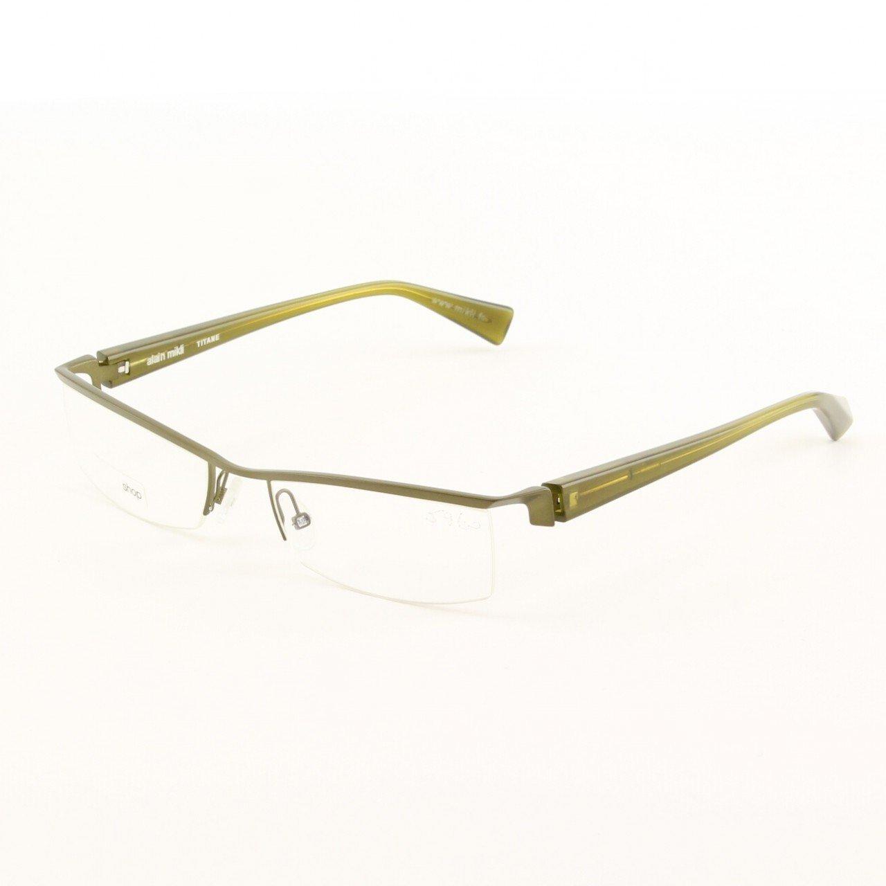 Alain Mikli Eyeglasses AL0523 15 Contemporary Green Metallic Frame