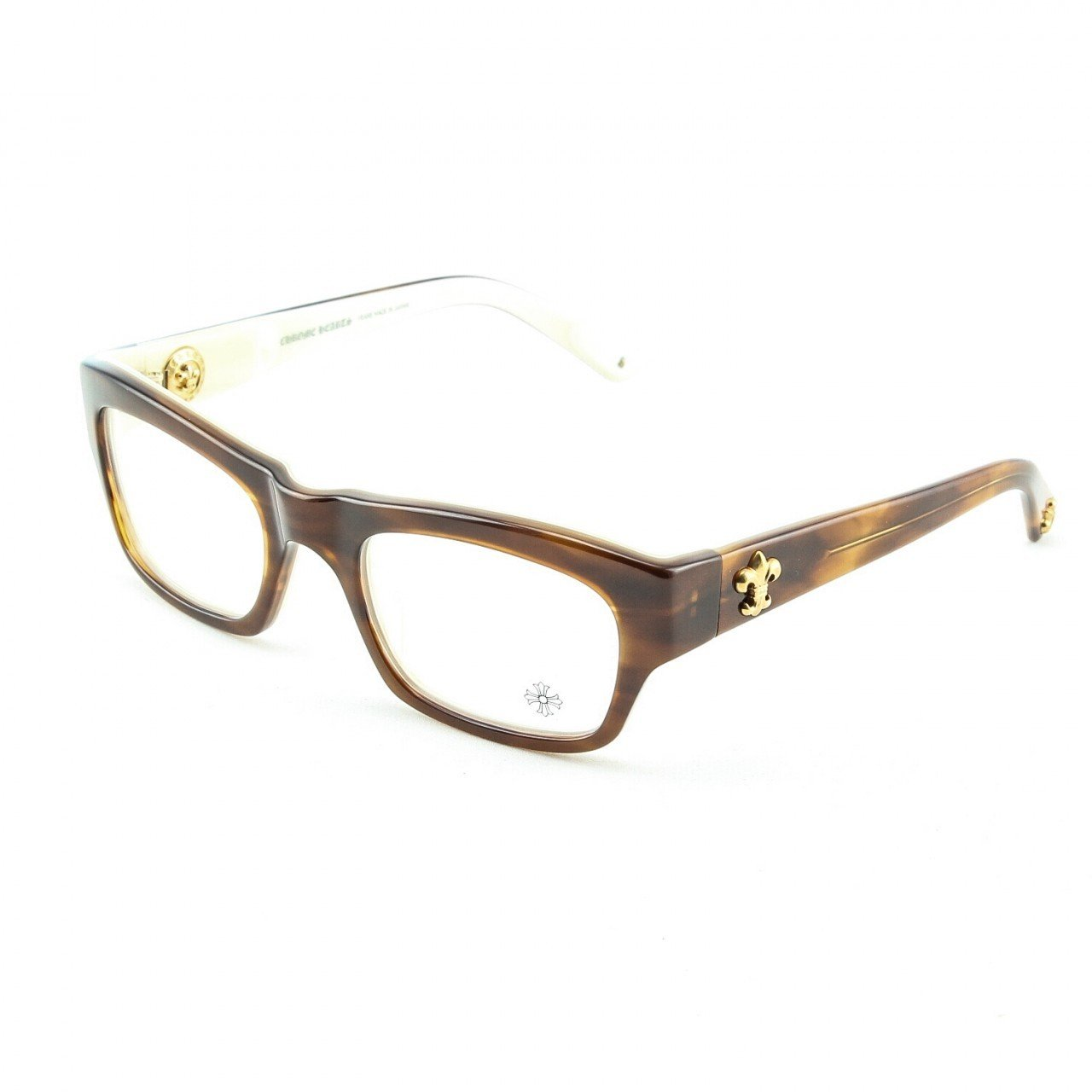 Chrome Hearts Blue Ballz Eyeglasses Demi Tortoise Bone