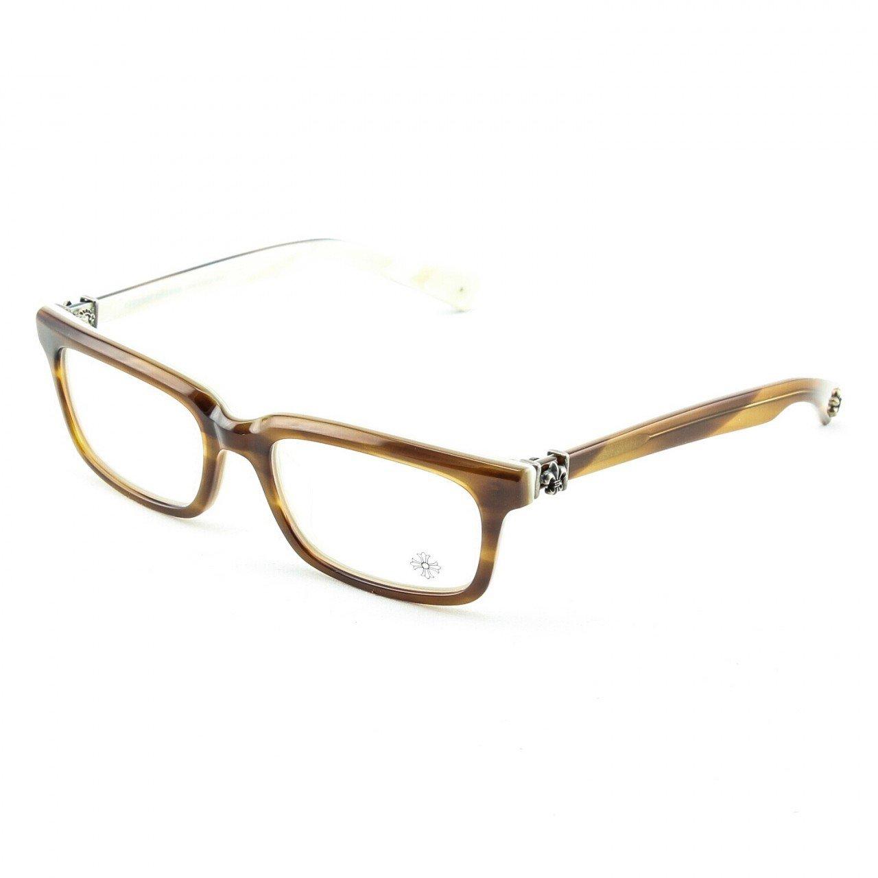 Chrome Hearts Pontifass Eyeglasses Demi Tortoise Bone