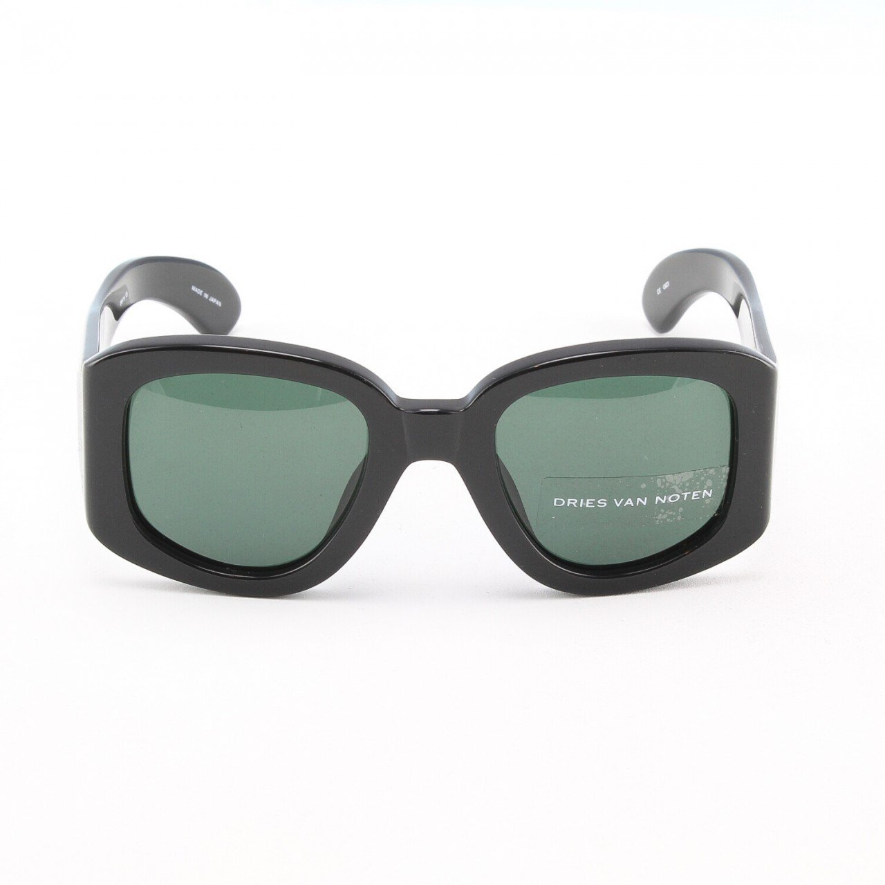 Dries Van Noten x Linda Farrow Women's Black Acetate Angular Sunglasses RARE NWT