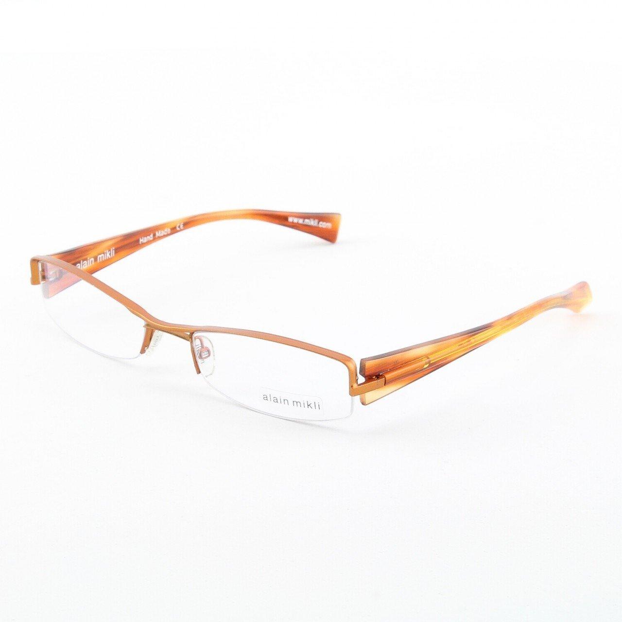 Alain Mikli Eyeglasses AL0656 Col. 18 Matte Copper Metallic Frame with Amber Temples