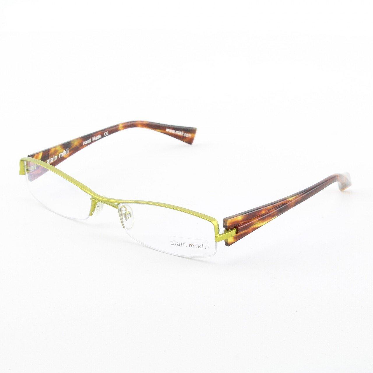 Alain Mikli Eyeglasses AL0656 Col. 17 Burnished Brass Metallic Frame with Amber Temples