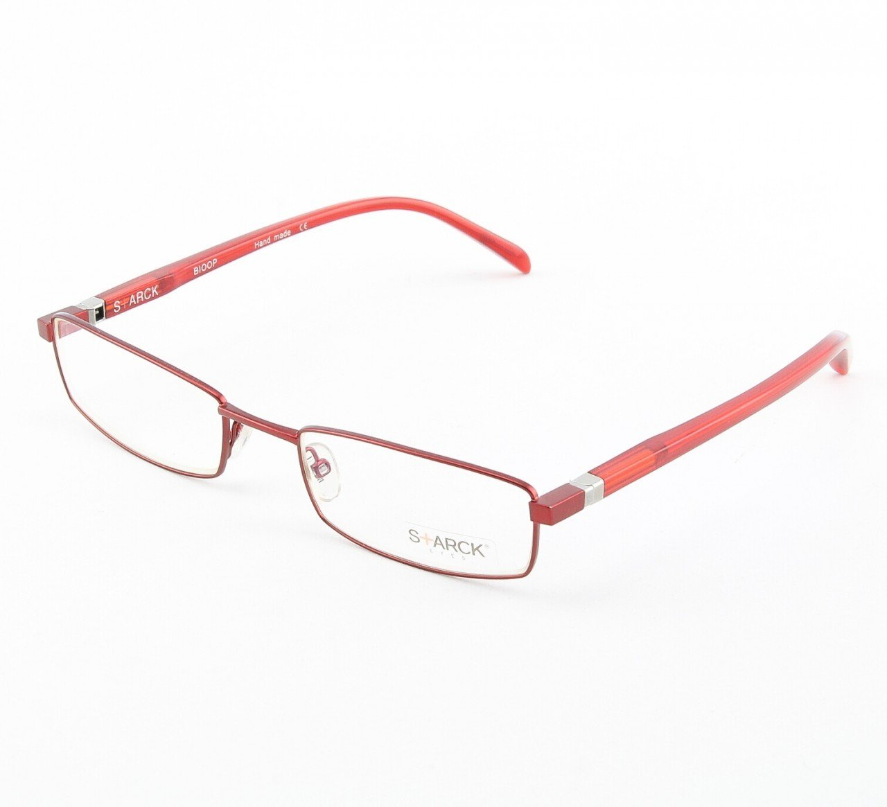 Alain Mikli Eyeglasses AL0613 Col. 14 Dark Raspberry Metallic Frame with Black and Red Temples