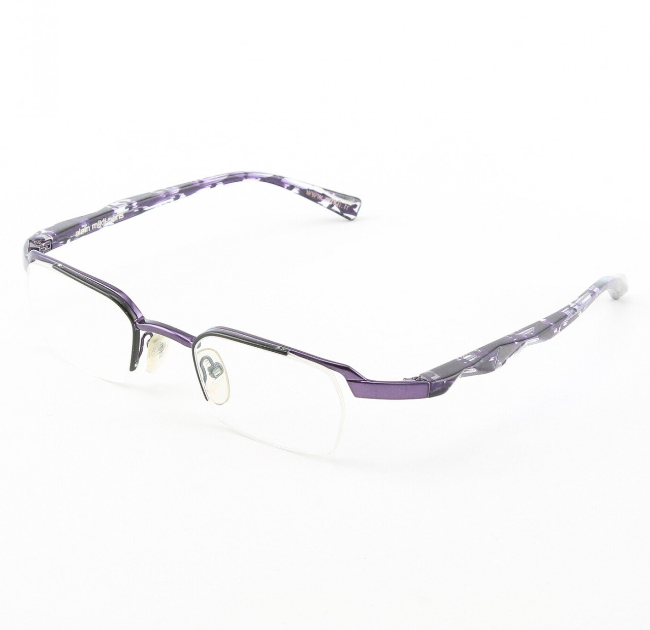 Alain Mikli Eyeglasses AL0556 Col. 95 Purple Metallic with Marbelized Purple Temples