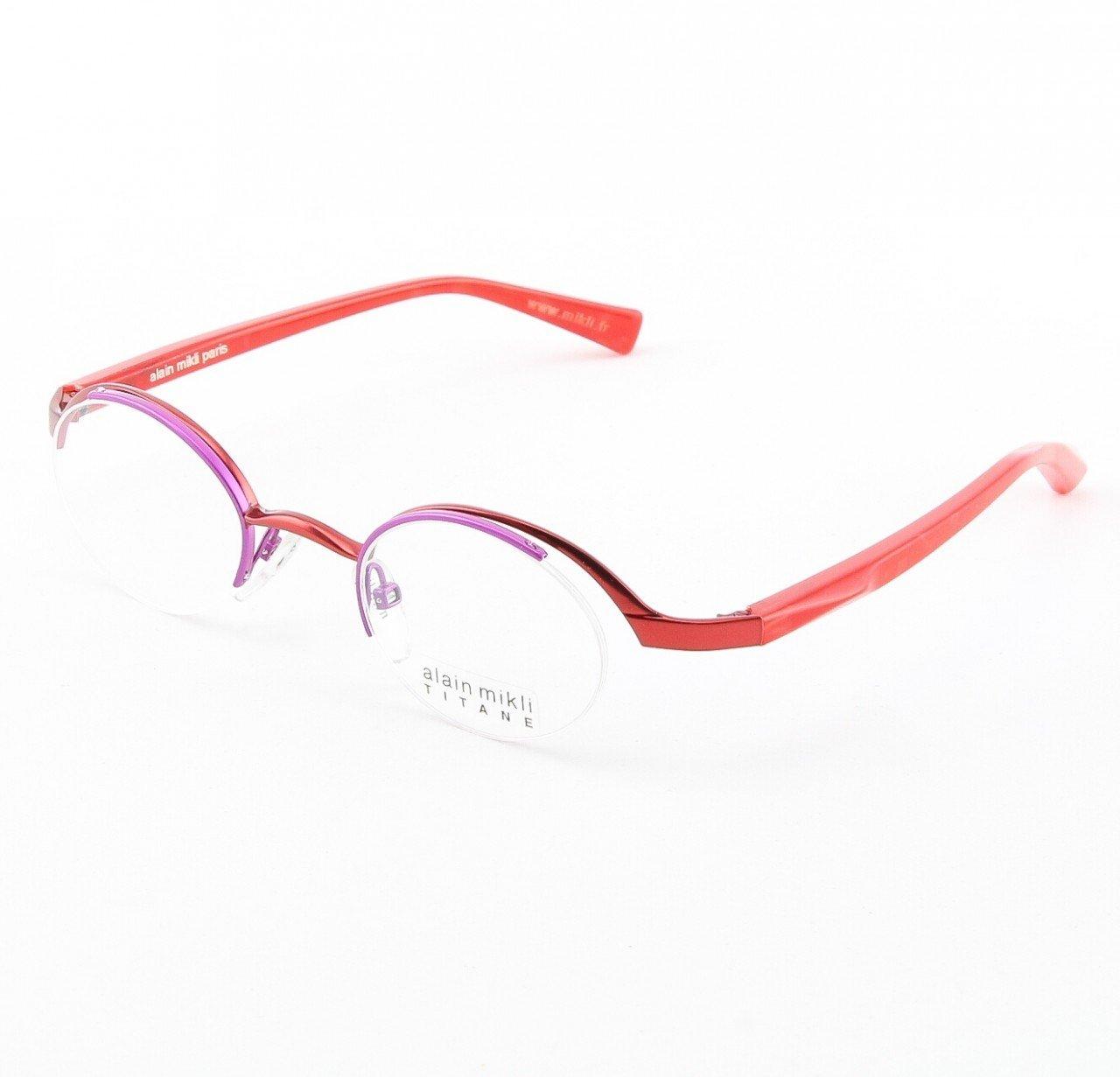 Alain Mikli Eyeglasses AL0552 Col. 14 Purple Metallic with Raspberry Temples