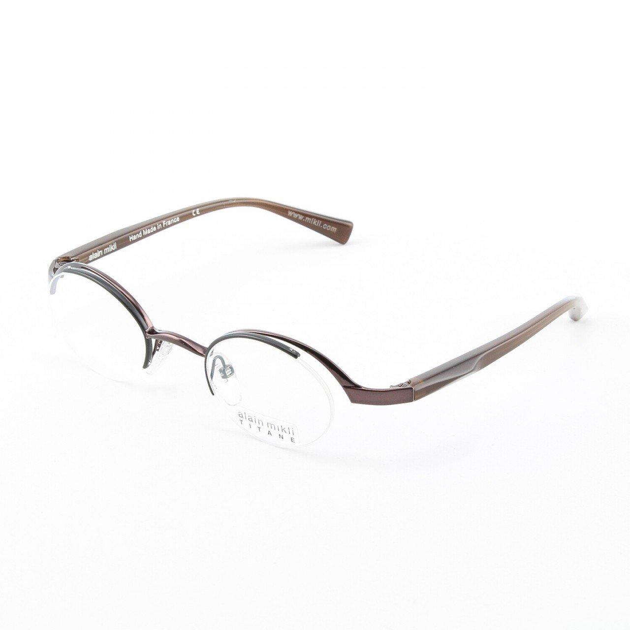 Alain Mikli Eyeglasses AL0552 Col. 12 Dark Amethist Frame with Amber Temples