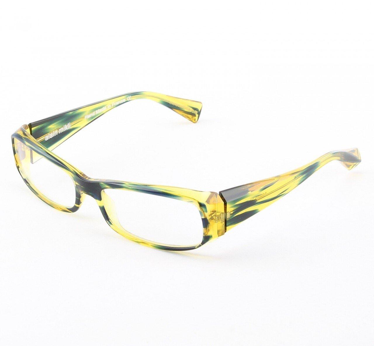 Alain Mikli Eyeglasses AL0322 Col. 55 Black and Yellow Translucent