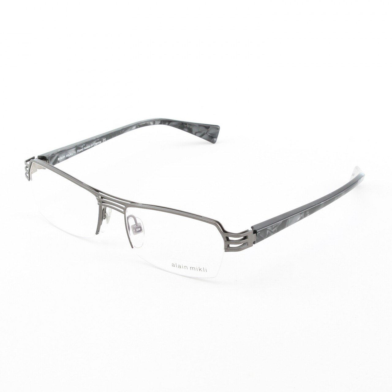 Alain Mikli Eyeglasses AL1107 Col. M00Z Flat Bronze Metal with Pearlized Black Temples