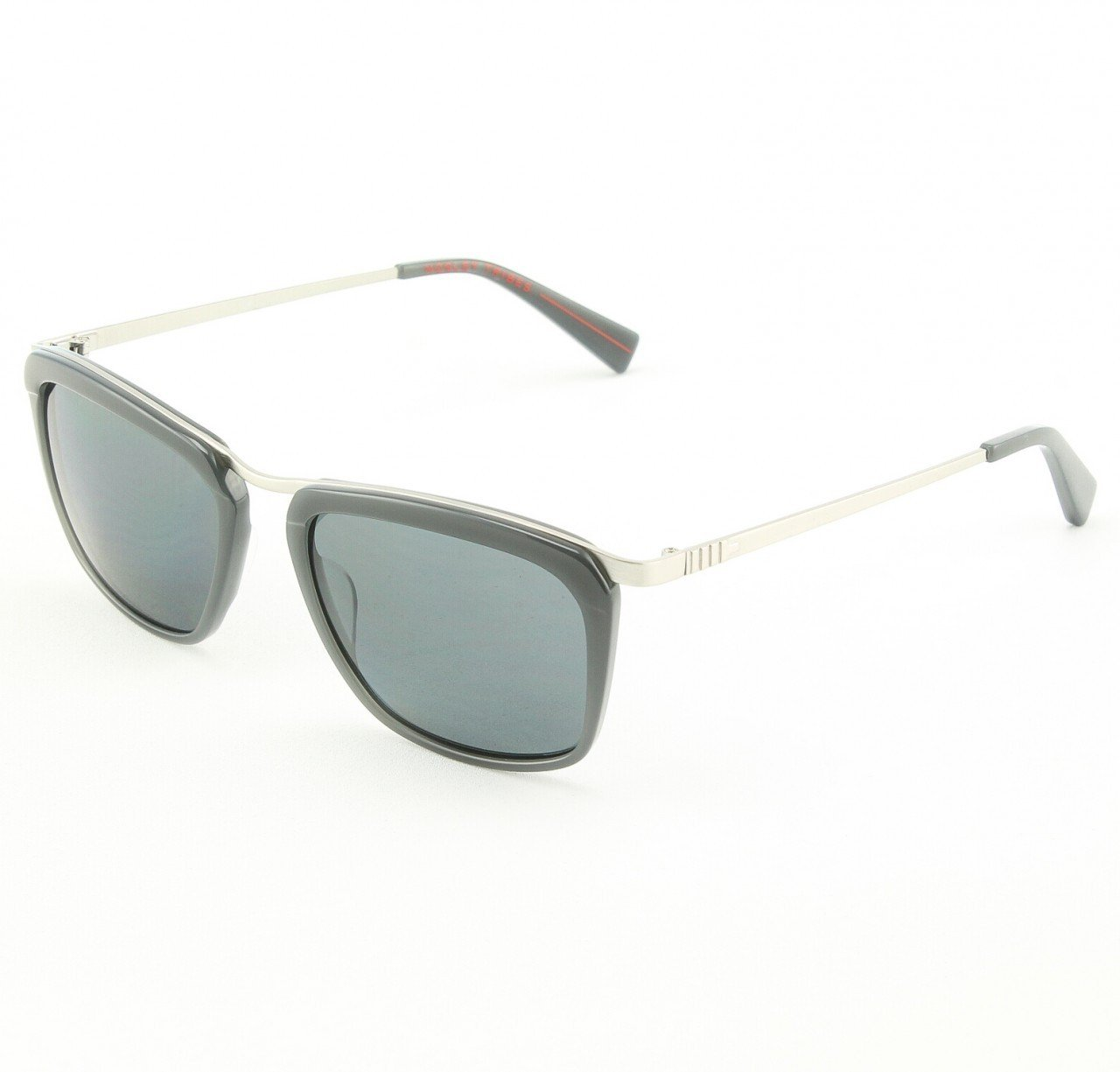 Mosley Tribes 2032S Woodward Sunglasses Col. 509581 Chrome Grey with Grey Polarized Lenses
