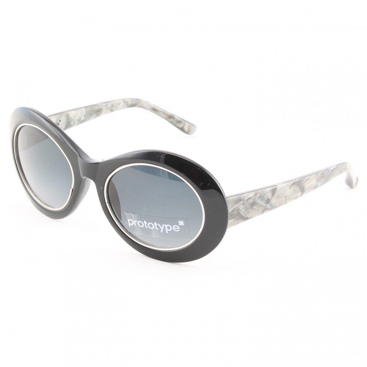 Prototype by Yohji Yamamoto Hornet Sunglasses Col. 02 Black Marble with Grey Gradient Lenses