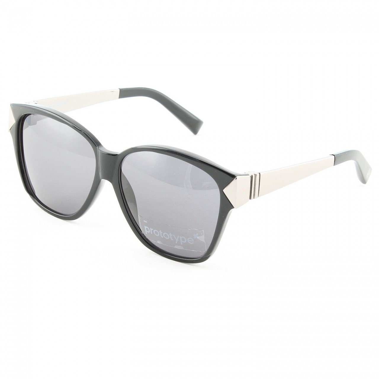 Prototype by Yohji Yamamoto 018 Claw Sunglasses Col. 01 Black Silver with Grey Lenses