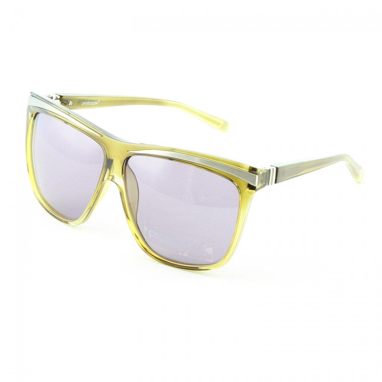 Prototype byYohji Yamamoto 017 Fang Sunglasses Col. 02 Green & Silver with Purple Lenses