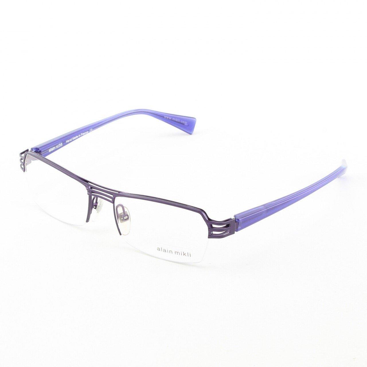Alain Mikli Eyeglasses AL1107 Col. M00V Purple Metal with Translucent Purple Temples