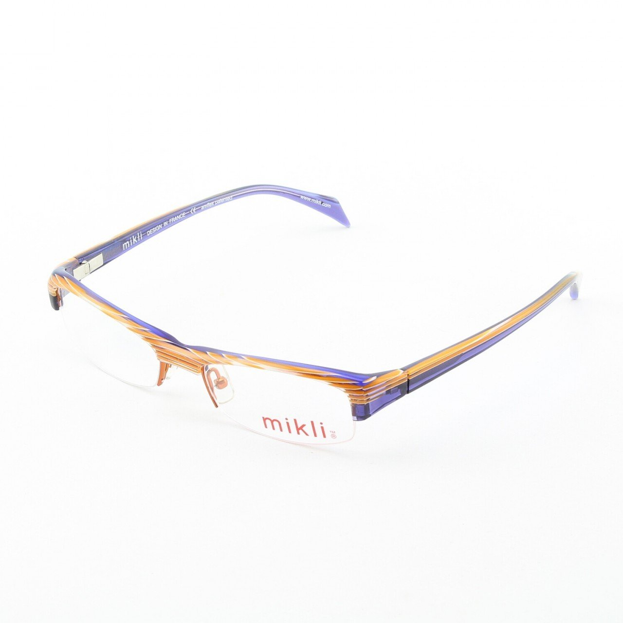 Alain Mikli Eyeglasses ML1004 Col. 121 Purple Accent with Purple Temples