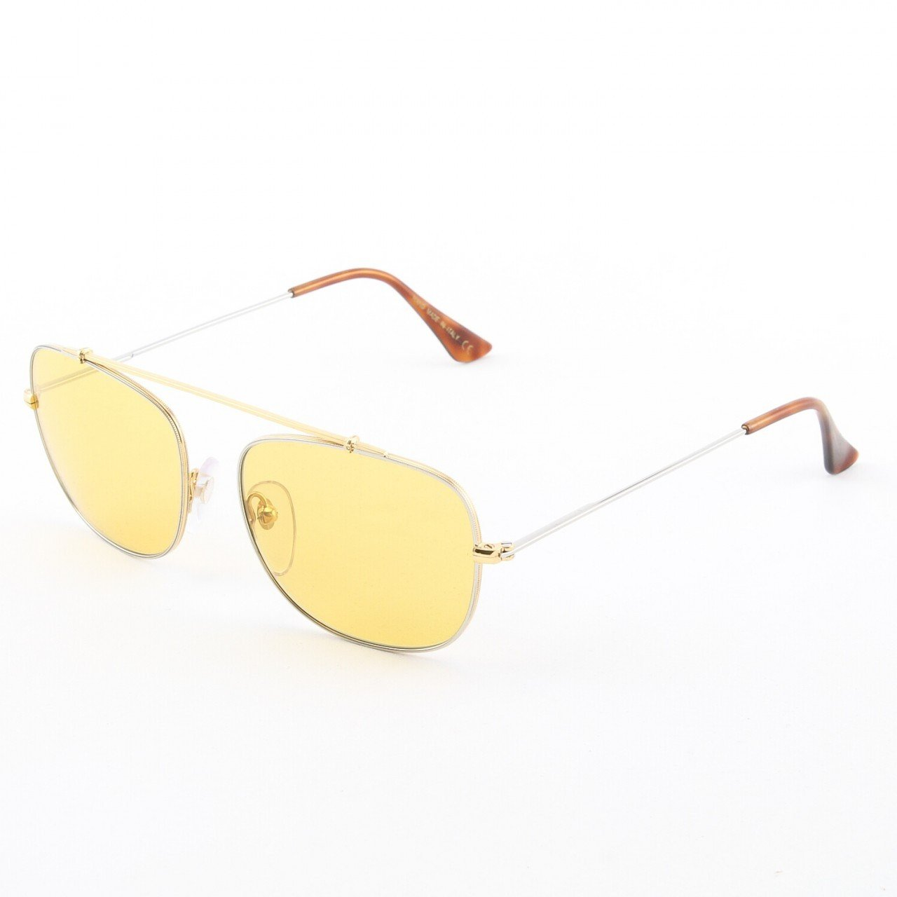 Super Primo 718/1M Sunglasses Gold Chrome with Yellow Zeiss Lenses by RETROSUPERFUTURE