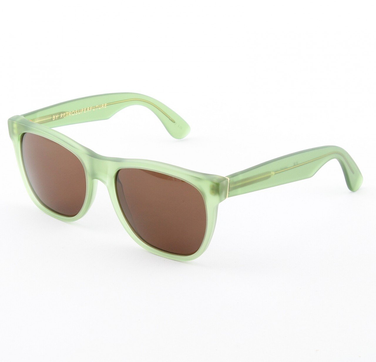 Super Classic 497/3T Sunglasses Green with Brown Zeiss Lenses by RETROSUPERFUTURE