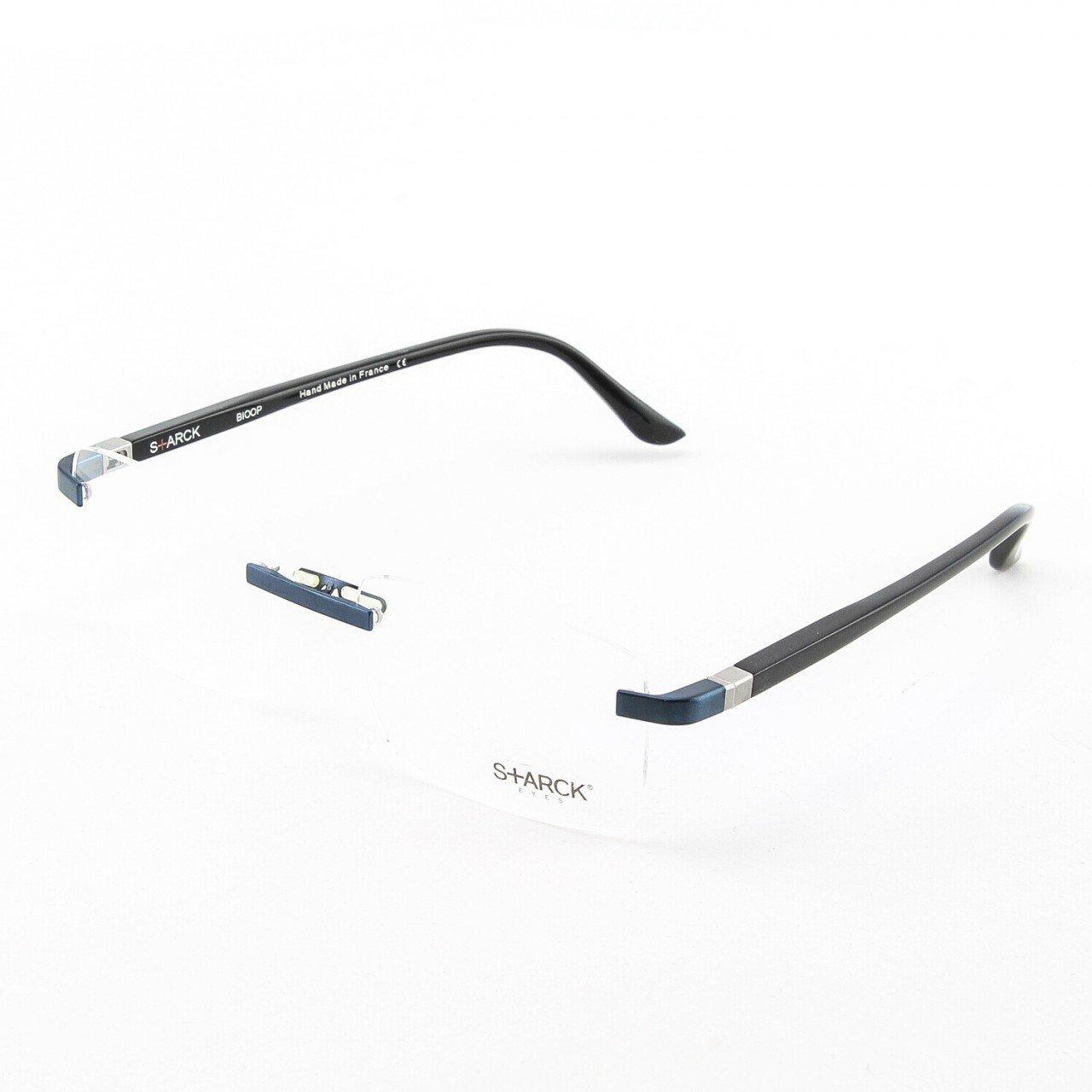 Starck Eyeglasses PL1023 Col. 0008 Black with Clear Lenses