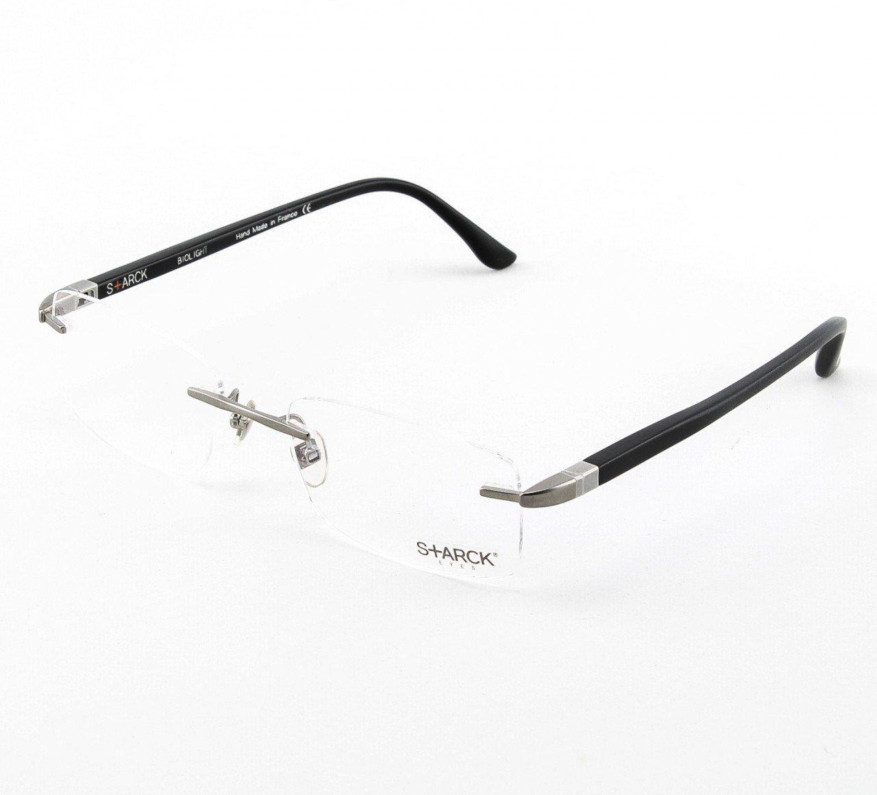 Starck Eyeglasses PL0906 Col. 04 Black with Clear Lenses