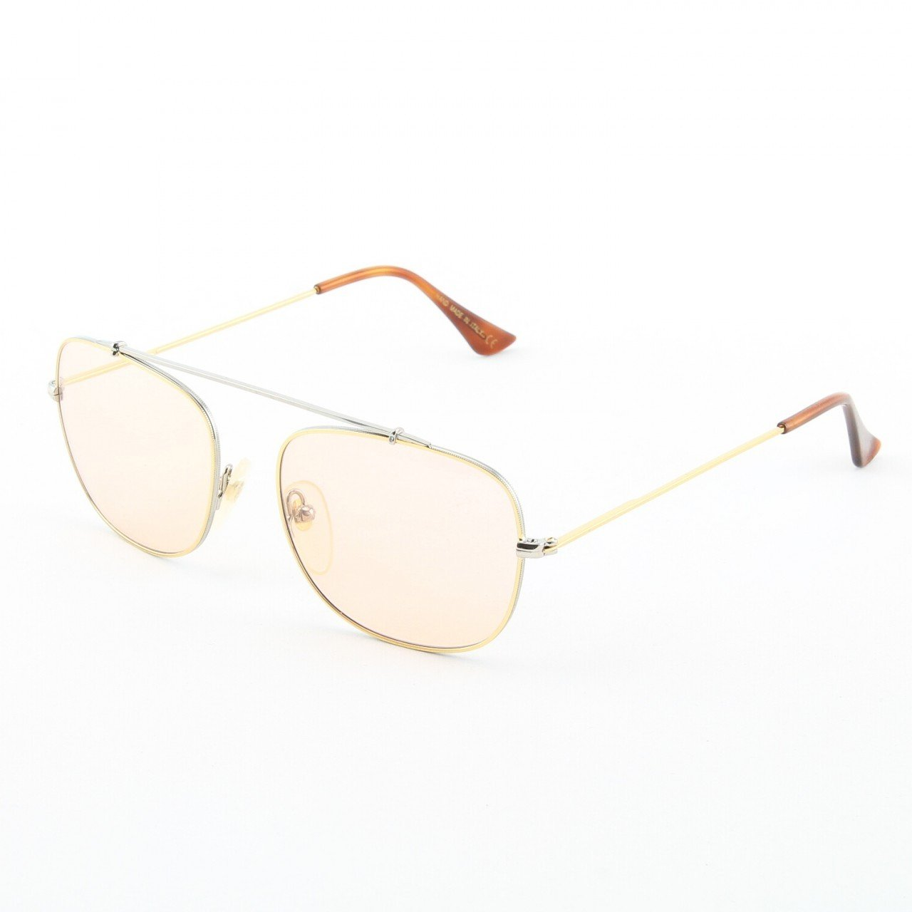 Super Primo 717/1M Sunglasses Gold Chrome with Pink Zeiss Lenses by RETROSUPERFUTURE