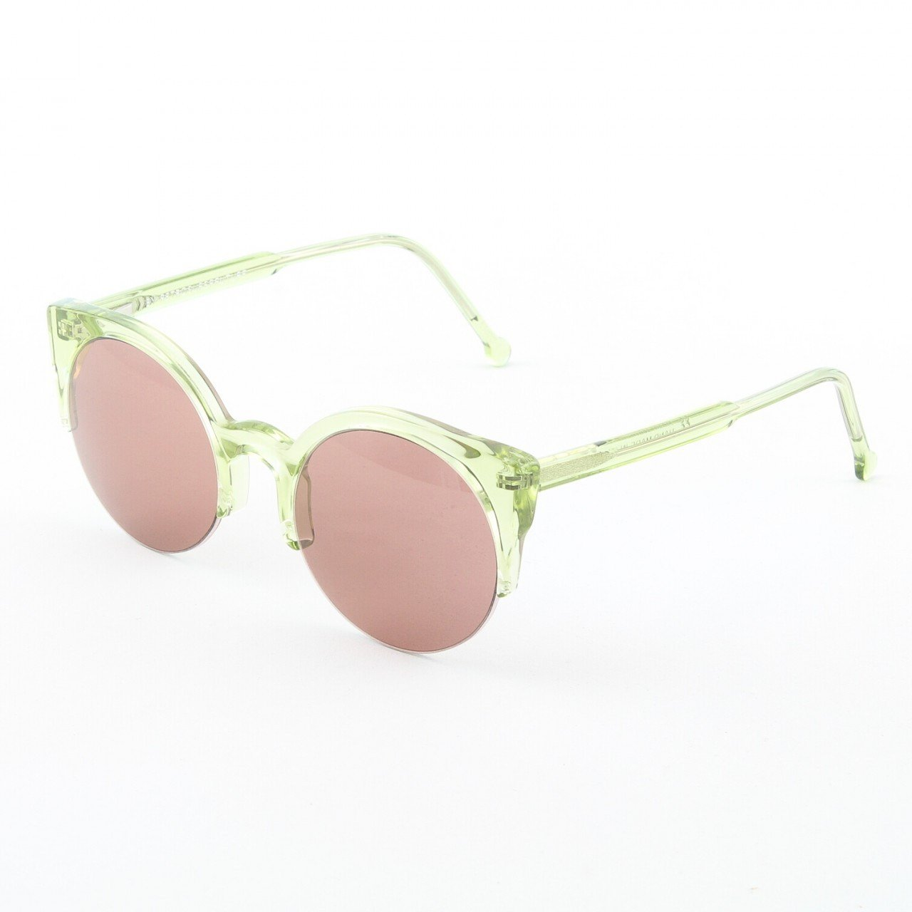 Super Lucia 574/2A Sunglasses Green Crystal with Purple Zeiss Lenses by RETROSUPERFUTURE