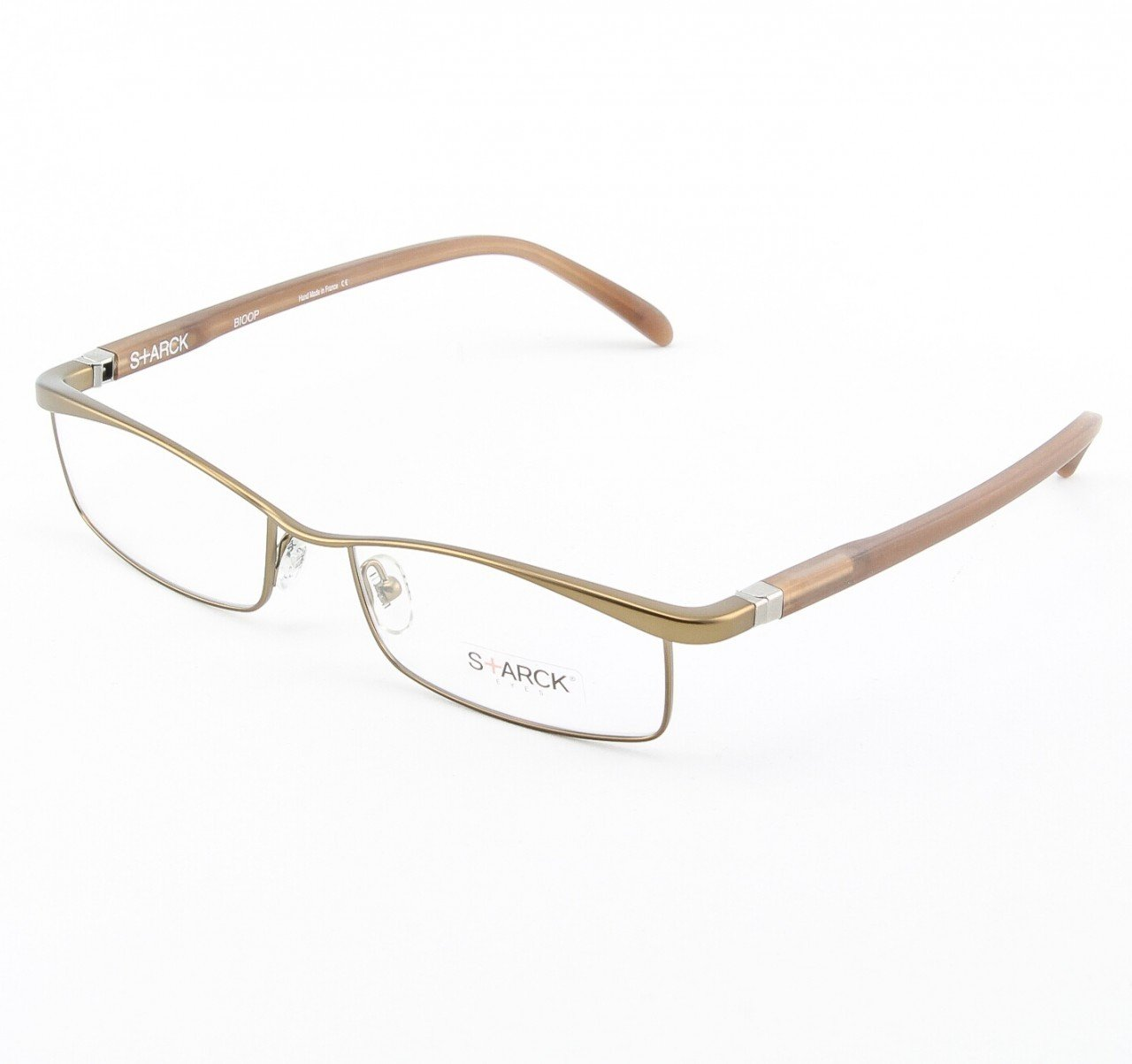 Starck Eyeglasses P0641 Col. 54 Bronze with Clear Lenses