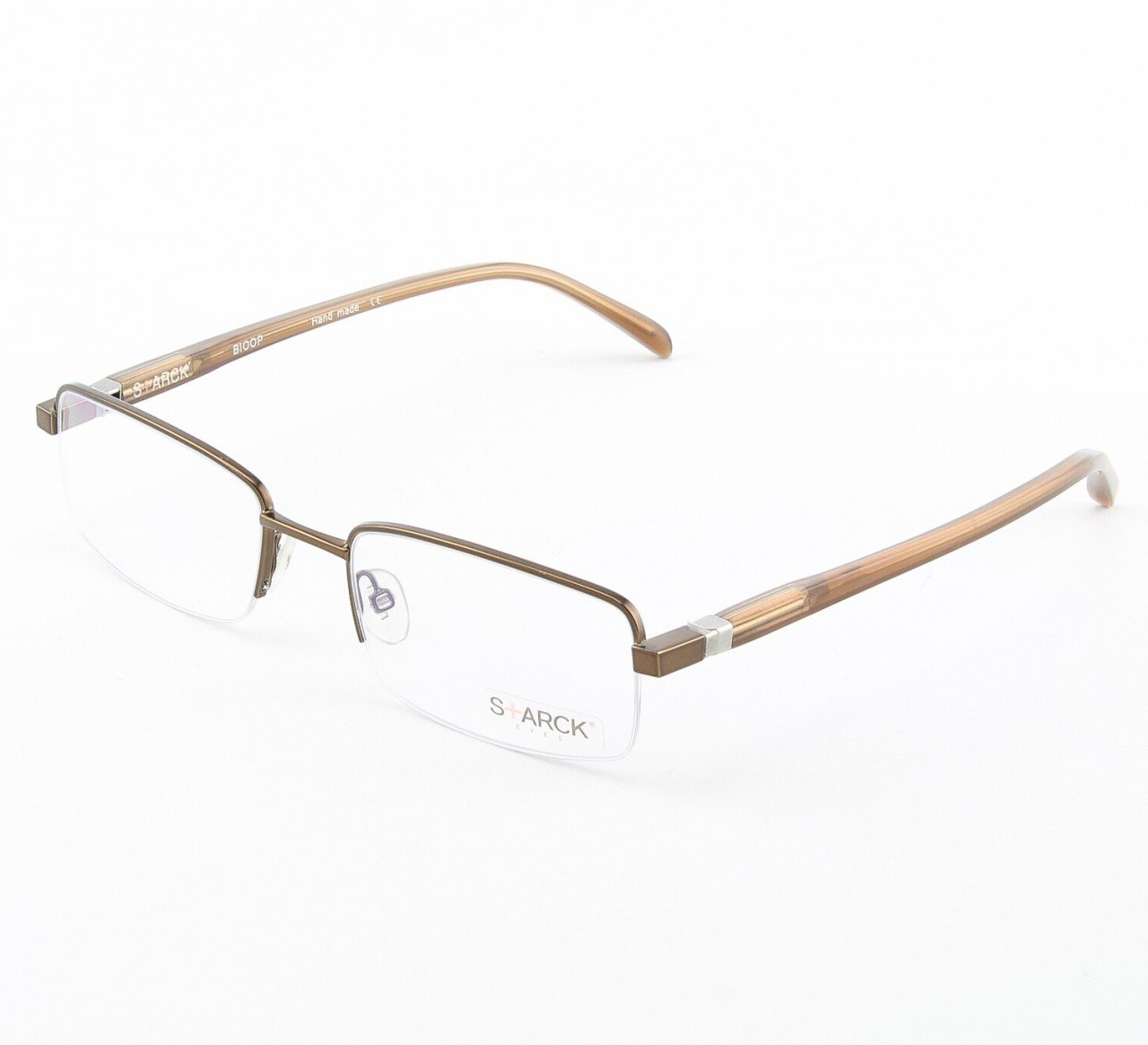 Starck Eyeglasses P0621 Col. 12 Hazel with Clear Lenses