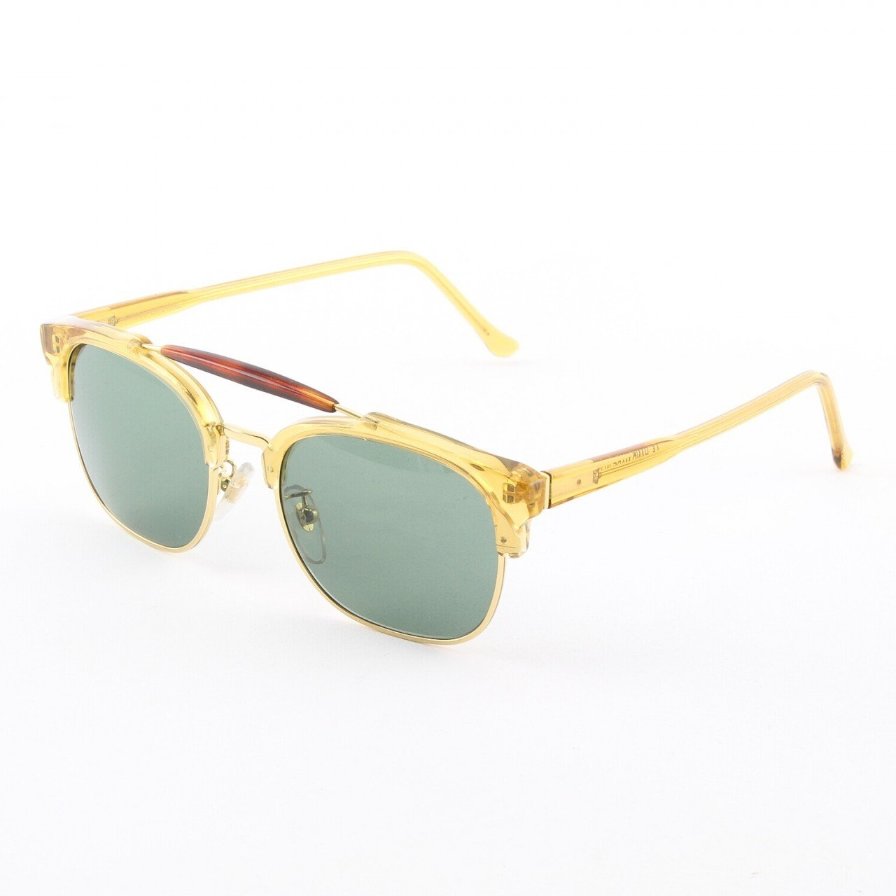 Super 49ers 882/2A Sunglasses Yellow Gold Brown Havana with Green Zeiss Lenses by RETROSUPERFUTURE