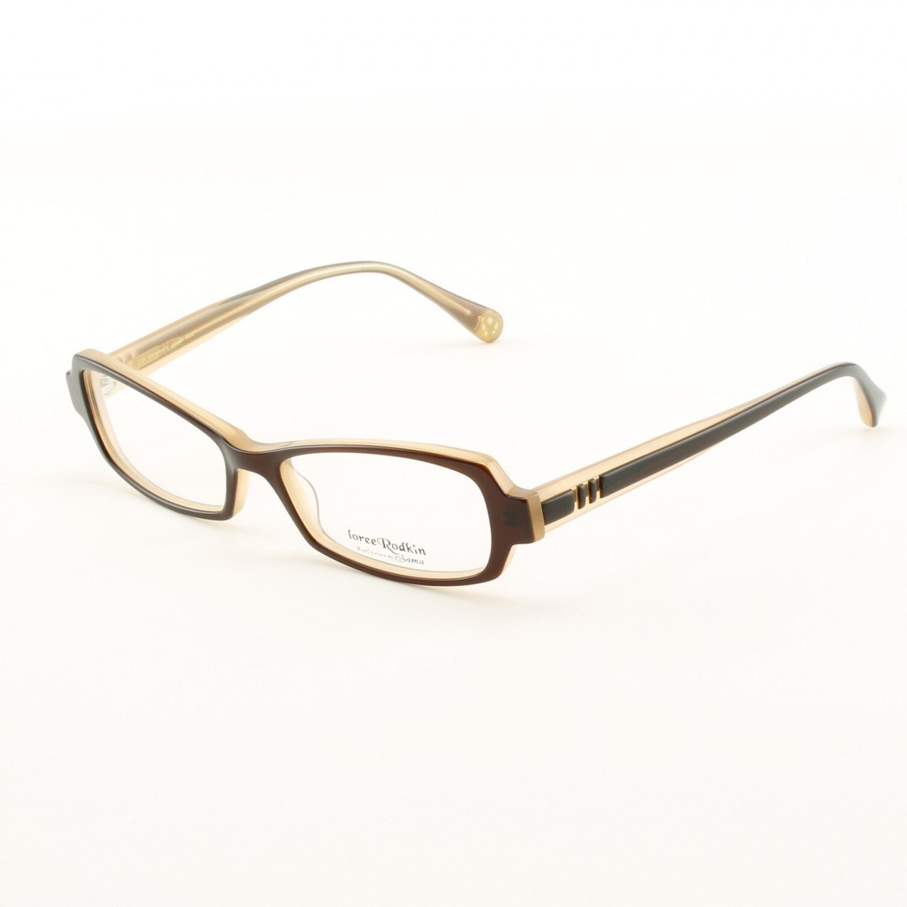 Loree Rodkin Isla Eyeglasses by Sama Col. Brown with Clear Lenses
