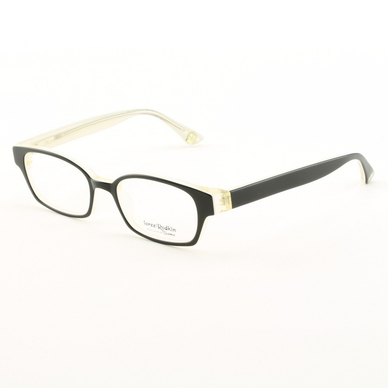 Loree Rodkin Evan Eyeglasses by Sama Col. Black with Clear Lenses