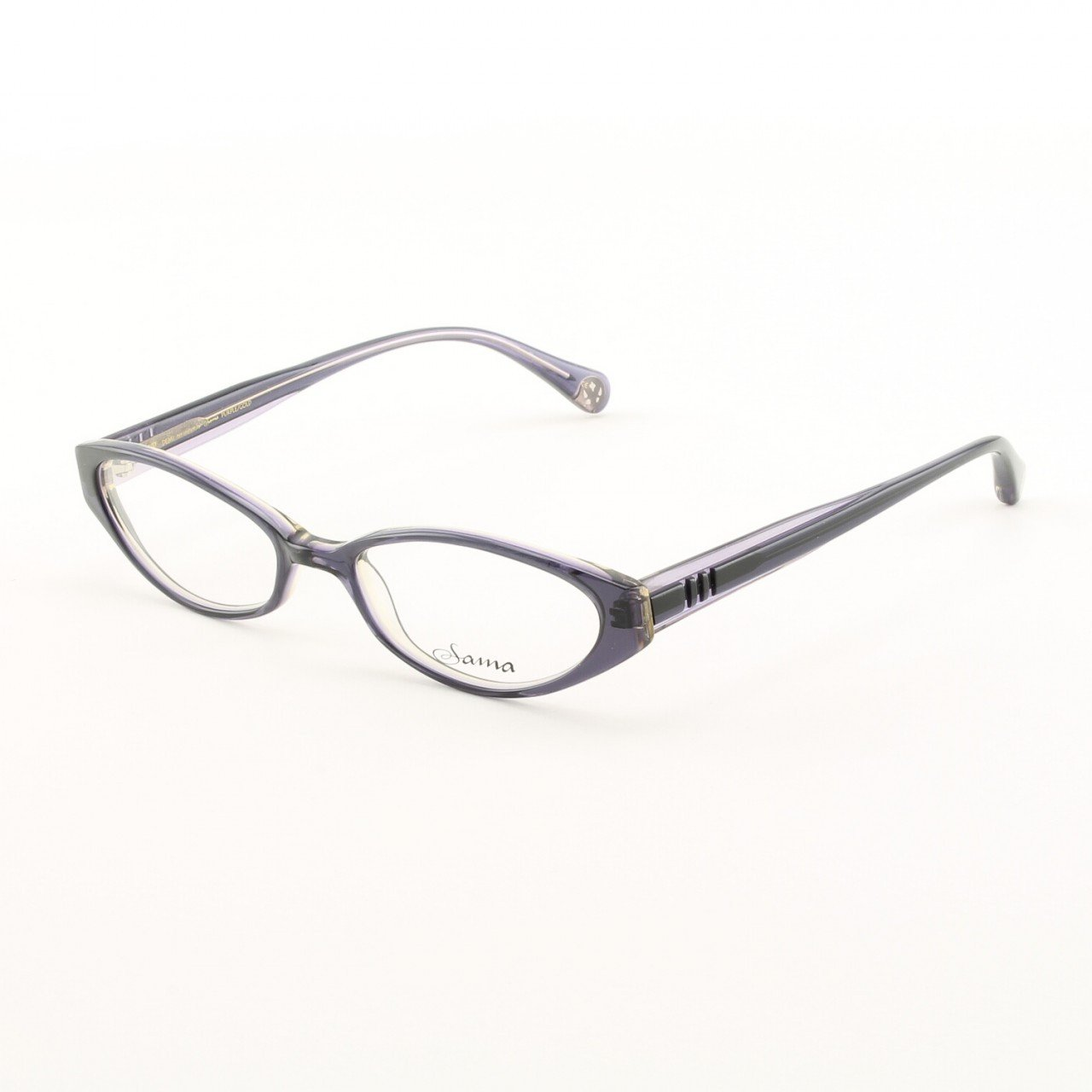 Loree Rodkin Demi Eyeglasses by Sama Col. Purple and Gold with Clear Lenses