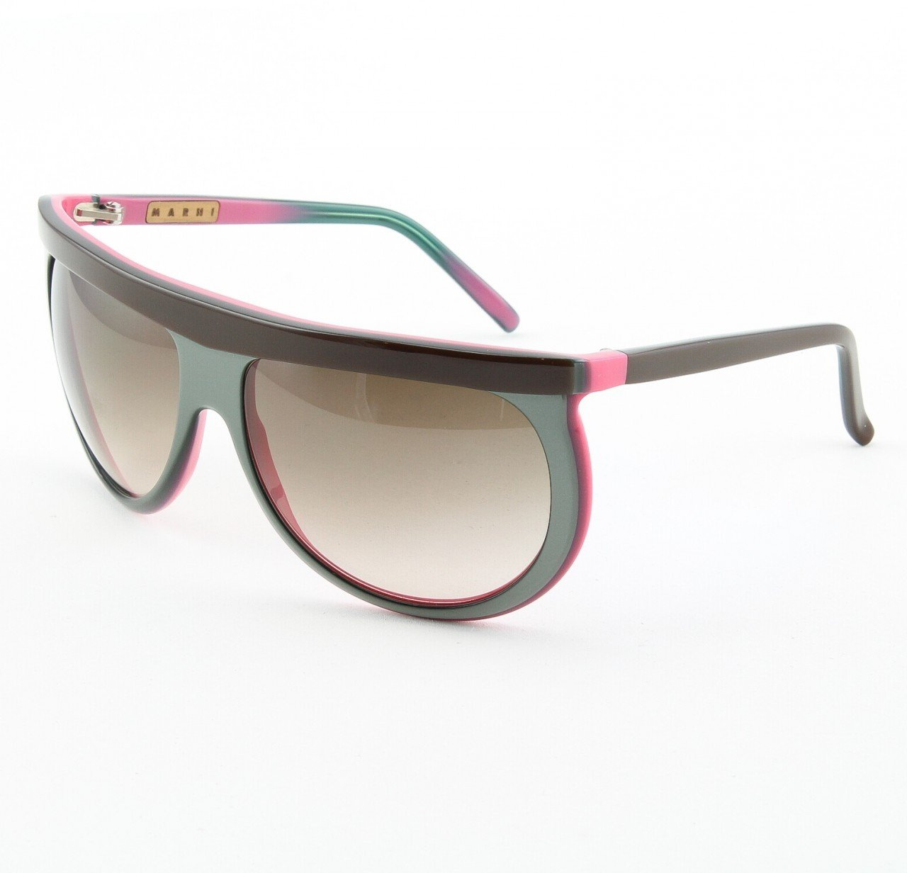 Marni MA152S Sunglasses Col. 07 Brown Grey Pink Grey Gradient Lenses with Gray Lenses
