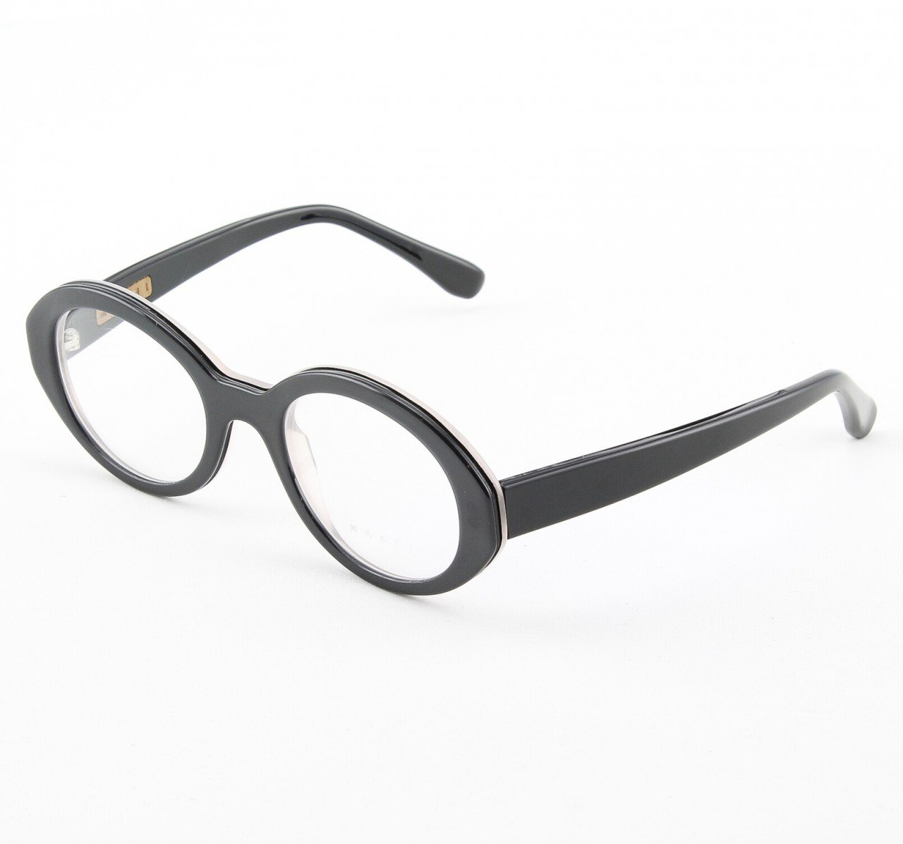 Marni MA651S Eyeglasses Col. 17 High Gloss Black Frame with Clear Lenses