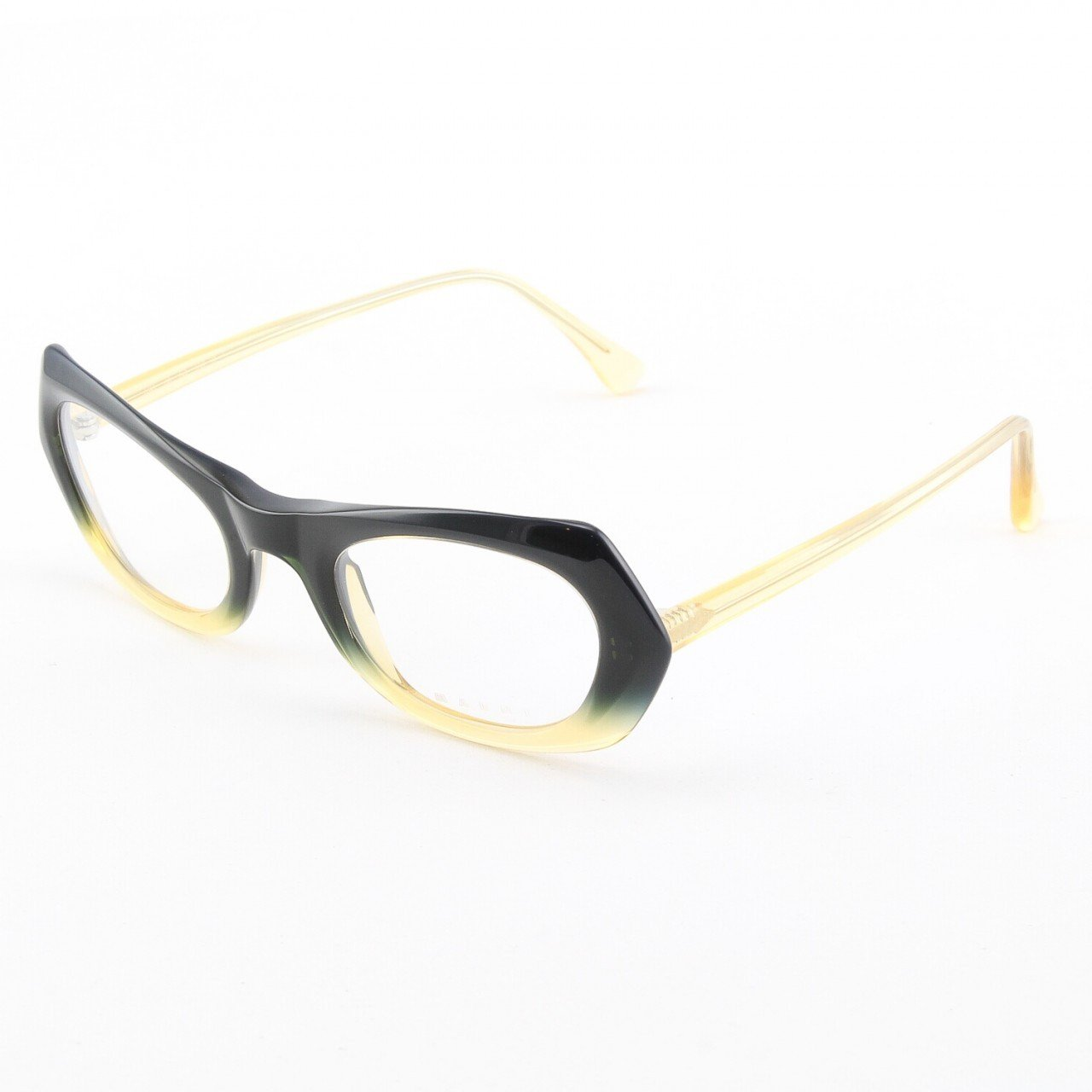 Marni MA680S Eyeglasses Col. 08 Midnight Navy to Crystal Light Yellow with Clear Lenses