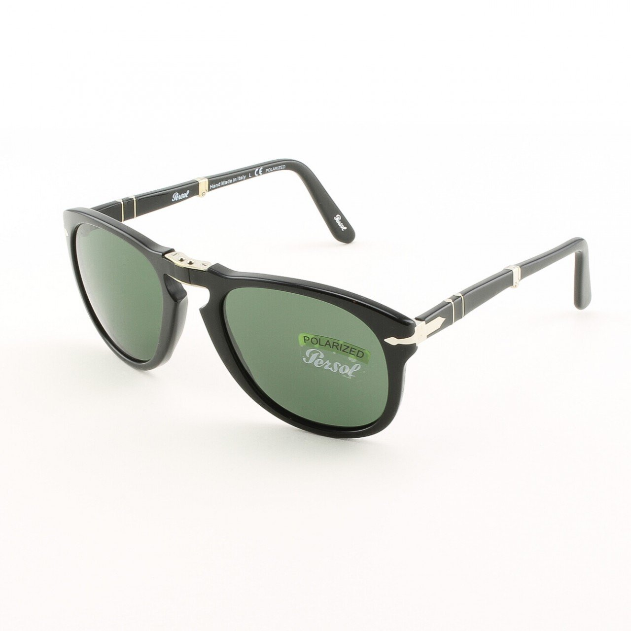 Persol PO0714 95/58 54mm Black Sunglasses with Grey Green Polarized Lenses