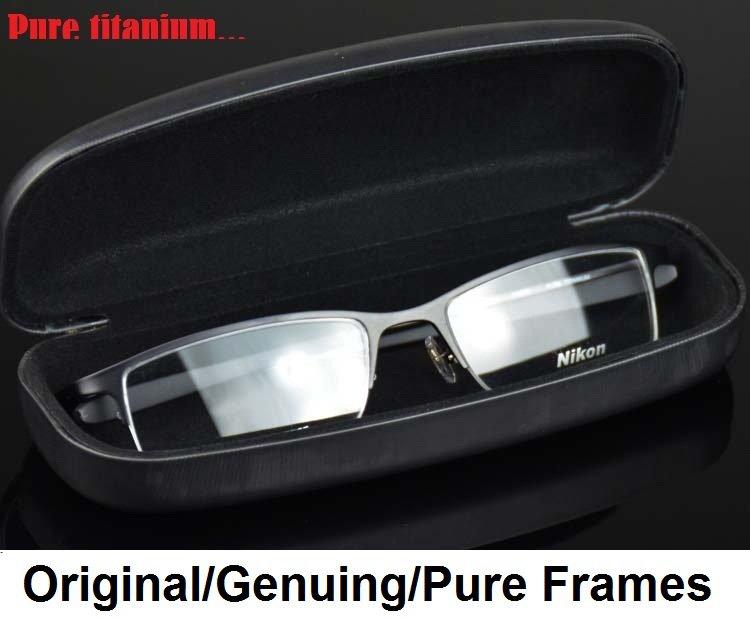 Nikon titanium eye glass frame half rim frame