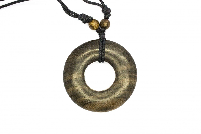 Circle Ring Pendant - Donut Shaped wood pendant Necklace!